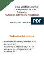 Redacción Del Informe Clase 2 2014