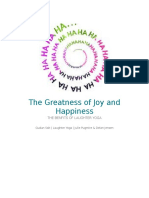 the greatness of joy and happiess