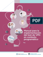 Manual Para La Implementacion Test Vph en Contexto Programatico