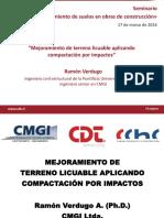 Mejoramiento de Terreno Licuable Aplicando Compactacion Por Impactos Ramon Verdugo CMGI