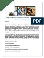 Psicologia Industrial Maestria Internacional