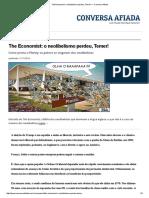 The Economist_ o Neolibelismo Perdeu, Temer! — Conversa Afiada