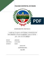 ET Asfaltado Interconexion Panamericana Av 03 Octubre