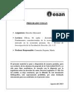 Milagros Olivos. Fundamentos Constitucionales de La Economía Social de Mercado.