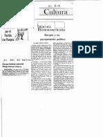Borges y Su Pensamiento Políitico (Artículo Del Libro de Pedro Orgambide)