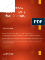 Sinonimos, Antonimos
