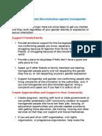 Transgender discrimination
