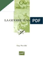 (Que Sais-je _) Guy Pervillé-La Guerre d'Algérie (1954-1962)-Presses Universitaires de France - PUF (2007)
