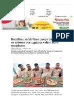 Rest Bacalhau, Sardinha e Queijo Da Serra_ Os Sabores Portugueses Valem Ouro Nas Pizzas - PÚBLICO
