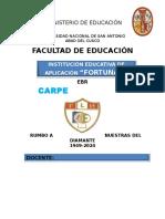 Carpeta Pedagogica Flh 2016