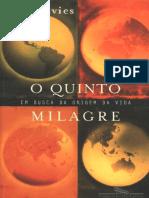 O Quinto Milagre - Paul Davies