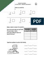 Grade 1 - End of Year Exam - Maths Revision Sheet 5