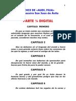 Libro Espiritual Audi, Filia, Indice - San Juan de Avila