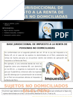 Base Juridiccional de Impuesto a La Renta de Personas No Domiciliadas[1]