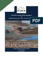 161104 08MN053 Annual Monitoring Report OT5E