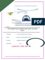 Documentos de Gestion Mof Rof Etc
