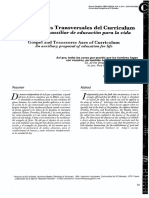 Tito Orlando Llanes Márquez, Evangelios y Ejes Transversales