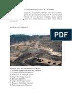 Labores de Preparacion y Explotacion Minera