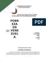Trabajo La Pobreza en Venezuela1