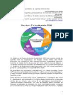O quintilema da Agenda 2030 da ONU