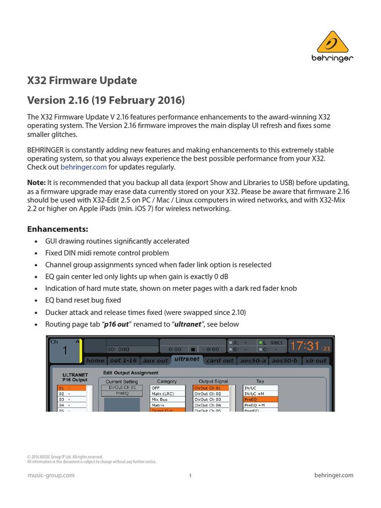 X32 Firmware Update V2 16
