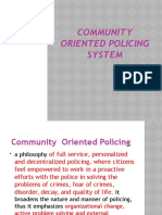 Community Oriented Policing System New