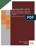 Decreto 1257 Sobre Evaluacion Ambiental