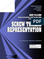 ASME Y14.6-2001(R2007), Screw Thread Representation