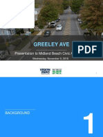 Greeley Avenue Traffic Circles Plan