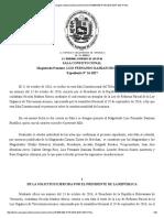TSJ Anula Reformas a Las Leyes de Contraloría y Telecomunicaciones
