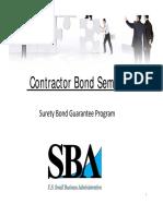 Surety Bond Guaranty Program