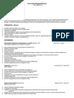 cassandra brown resume 2016  education