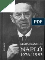 Napló. 1976-1983 - Márai Sándor