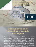 Operaciones en El Extranjero y Cambio Extranjero
