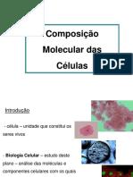 Aula 02 - Composição Molecular Das Células - 1 Slide