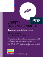 Haiti Livret 4 Didactique Ecrit