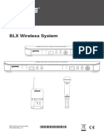 SHURE-BLX Wireless User Guide English