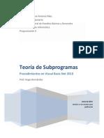 Teoria de Subprogramas