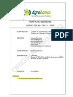 015 41 ReglamentoTarifarioG102016 - AGROBANCO