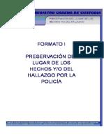 Formatos (Cadena de Custodia) PGR