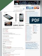 iPhone 4 Caracteristiques