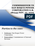 BIR vs San Roque Power Corp.