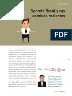 CPC Julio Cesar Mora Cuevas Secreto Fiscal y Sus Cambios Recientes