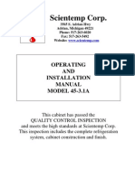 Scientemp 45-3.1A Manual, Operating and Installation Manual