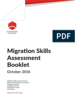 Migration Skills Assessment Booklet October 2016