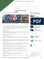 Comandos Úteis Para Você Dominar Ainda Mais o Buscador Do Google - Google