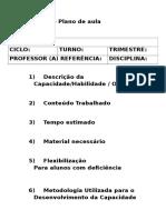 Modelo de Plano de Aula Didatica