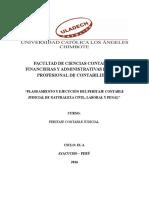 Planeamiento y Ejecución Del Peritaje Contable Judicial de Naturaleza Civil, Laboral y Penal