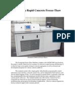 The Scientemp Freeze-Thaw Concrete Tester Brochure, Concrete Testing Machine Brochure, Information