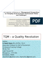 TQM – a Quality Revolution [a conference (2016, OCtober 7-8) presentation]